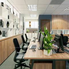 Khu làm việc ban kinh tế - View3:  Tòa nhà văn phòng by Công ty CP nội thất Miền Bắc