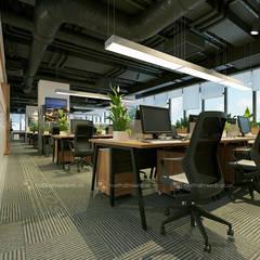 Khu làm việc trung tâm tư vấn - View1:  Tòa nhà văn phòng by Công ty CP nội thất Miền Bắc