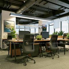 Khu làm việc trung tâm tư vấn - View2:  Tòa nhà văn phòng by Công ty CP nội thất Miền Bắc
