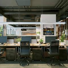 Khu làm việc trung tâm tư vấn - View3:  Tòa nhà văn phòng by Công ty CP nội thất Miền Bắc