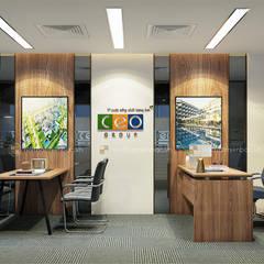 Phòng lãnh đạo trung tâm tư vấn - View1:  Tòa nhà văn phòng by Công ty CP nội thất Miền Bắc