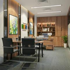 Phòng lãnh đạo trung tâm tư vấn - View2:  Tòa nhà văn phòng by Công ty CP nội thất Miền Bắc