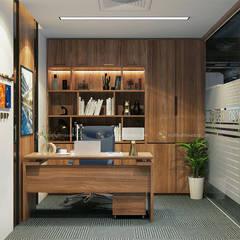Phòng lãnh đạo trung tâm tư vấn - View3:  Tòa nhà văn phòng by Công ty CP nội thất Miền Bắc