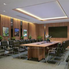 Phòng họp ban kinh tế - View1:  Tòa nhà văn phòng by Công ty CP nội thất Miền Bắc