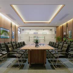 Phòng họp ban kinh tế - View3:  Tòa nhà văn phòng by Công ty CP nội thất Miền Bắc