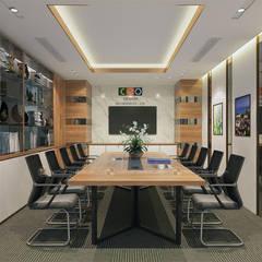 Phòng họp trung tâm tư vấn - View1:  Tòa nhà văn phòng by Công ty CP nội thất Miền Bắc