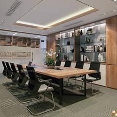 Phòng họp trung tâm tư vấn - View2:  Tòa nhà văn phòng by Công ty CP nội thất Miền Bắc