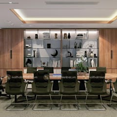 Phòng họp trung tâm tư vấn - View3:  Tòa nhà văn phòng by Công ty CP nội thất Miền Bắc