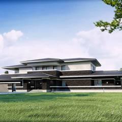 """Загородный дом в охраняемом поселке """"Дубрава"""" *NATURE*: Загородные дома в . Автор – Дизайн-Центр"""