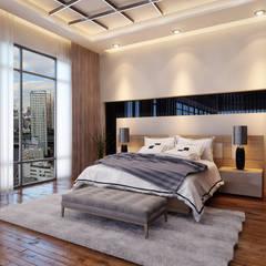 Sia Moore Archıtecture Interıor Desıgn – Gayrettepe Loft - İstanbul / Türkiye :  tarz Küçük Yatak Odası