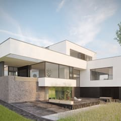 Projekty,  Dom rustykalny zaprojektowane przez Дизайн-Центр
