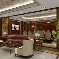 Sia Moore Archıtecture Interıor Desıgn – Yönetici Ofisi - Doha / Katar :  tarz Çalışma Odası