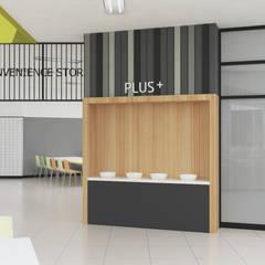 식음공간-청강문화산업대: DB DESIGN Co., LTD.의  레스토랑