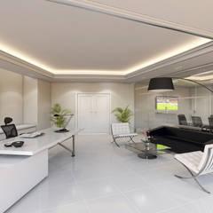 Ruang Kerja oleh Sia Moore Archıtecture Interıor Desıgn, Modern Komposit Kayu-Plastik