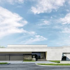 """Загородный дом в охраняемом поселке """"Дубрава"""" *FUTURISTIC*: Загородные дома в . Автор – Дизайн-Центр"""