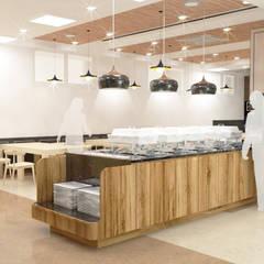 Restaurantes de estilo  por DB DESIGN Co., LTD., Rústico