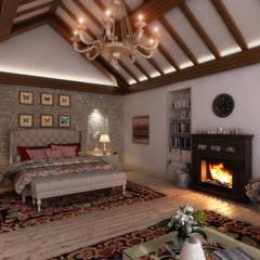 Sia Moore Archıtecture Interıor Desıgn – Kartepe Villa - Kocaeli / Türkiye:  tarz Küçük Yatak Odası, Eklektik Masif Ahşap Rengarenk