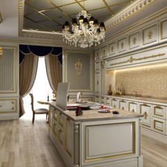 Private Villa - Riyadh / Saudi Arabia de Sia Moore Archıtecture Interıor Desıgn Clásico Madera Acabado en madera