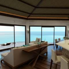 Sia Moore Archıtecture Interıor Desıgn – Lusail Bungalov - Doha / Katar:  tarz Oturma Odası,