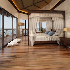 Small bedroom by Sia Moore Archıtecture Interıor Desıgn, Tropical Wood Wood effect
