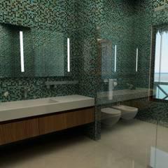 Sia Moore Archıtecture Interıor Desıgn – Lusail Bungalov - Doha / Katar:  tarz Banyo,