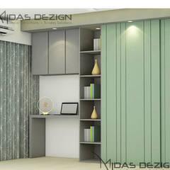 ห้องนอนขนาดเล็ก by Midas Dezign