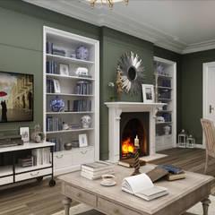 Sia Moore Archıtecture Interıor Desıgn – Chelsea Flat - Londra / İngiltere:  tarz Oturma Odası