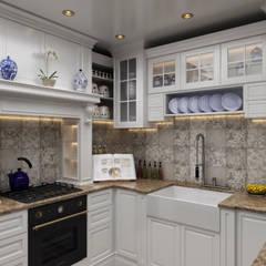 Sia Moore Archıtecture Interıor Desıgn – Chelsea Flat - Londra / İngiltere:  tarz Ankastre mutfaklar