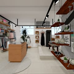Eclectic style offices & stores by Daniela Ponsoni Arquitetura Eclectic