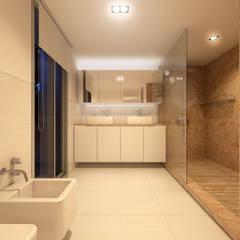 Casa na Comporta, 2012 Portugal: Casas de banho  por martimsousaemelo