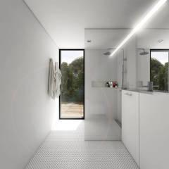 Casa Refúgio, 2014 Portugal: Casas de banho  por martimsousaemelo