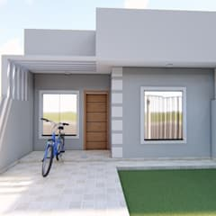منزل عائلي كبير تنفيذ Danilo Rodrigues Arquitetura,