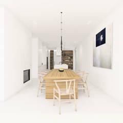 Casa n.º 11, Meco, Portugal 2018 Salas de jantar minimalistas por martimsousaemelo Minimalista
