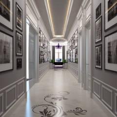 Sia Moore Archıtecture Interıor Desıgn – Pearl Villa - Doha / Katar:  tarz Koridor ve Hol, Klasik Mermer
