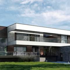 Casas de campo de estilo  por Дизайн-Центр