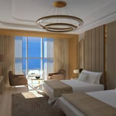 Asya Yapı İçmimarlık – Trabzon otel odası:  tarz Oteller