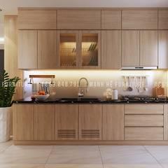 Designer :  Nhà bếp by Công ty TNHH Nội Thất Mạnh Hệ,