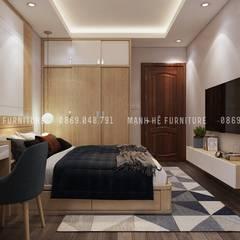 غرف نوم صغيرة تنفيذ Công ty TNHH Nội Thất Mạnh Hệ