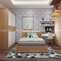 Designer :  Phòng ngủ của trẻ em by Công ty TNHH Nội Thất Mạnh Hệ,