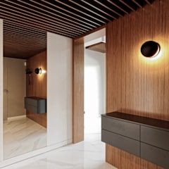 Dom w Złotowie Nowoczesny korytarz, przedpokój i schody od Grzegorz Popiołek Projektowanie Wnętrz Nowoczesny
