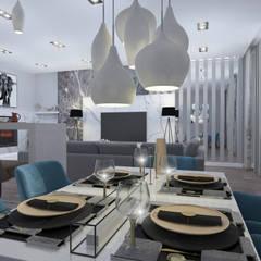 Квартира с нордическим характером. : Столовые комнаты в . Автор – Indigo дизайн