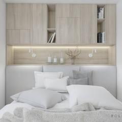 Sypialnia - mieszkanie Warszawa: styl , w kategorii Sypialnia zaprojektowany przez Polilinia Design