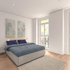 Apartamento com vista 360° Lisboa: Quartos  por Lisbon Heritage