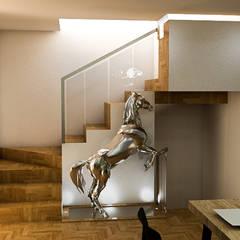 : Escaleras de estilo  por Sixty9 3D Design, Moderno