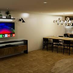 : Salas / recibidores de estilo  por Sixty9 3D Design, Moderno