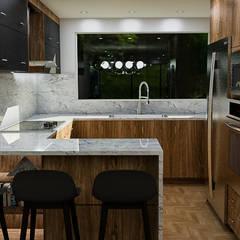 : Cocinas pequeñas de estilo  por Sixty9 3D Design