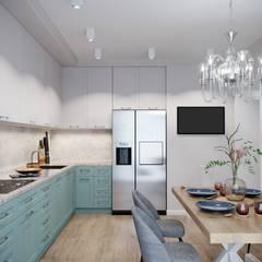 Визуализация кухни для дизайн-проекта: Встроенные кухни в . Автор – Антон Васьков,