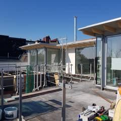 Aufstockung eines Dachgeschosses in Hamburg Eppendorf:  Dach von Zimmerei Nehls,