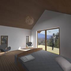 Interior Casa Viers: Dormitorios pequeños de estilo  por L2 Arquitectura