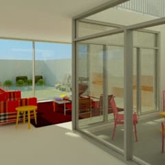 Moradia bifamiliar no Porto Jardins de Inverno modernos por José Melo Ferreira, Arquitecto Moderno